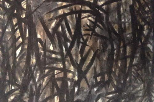Na Floresta. Tinta da China sobre papel, 32,5cmx40,5cm, 2019_1